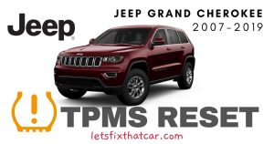TPMS Reset-Jeep Grand Cherokee 2007-2019 Tire Pressure Sensor