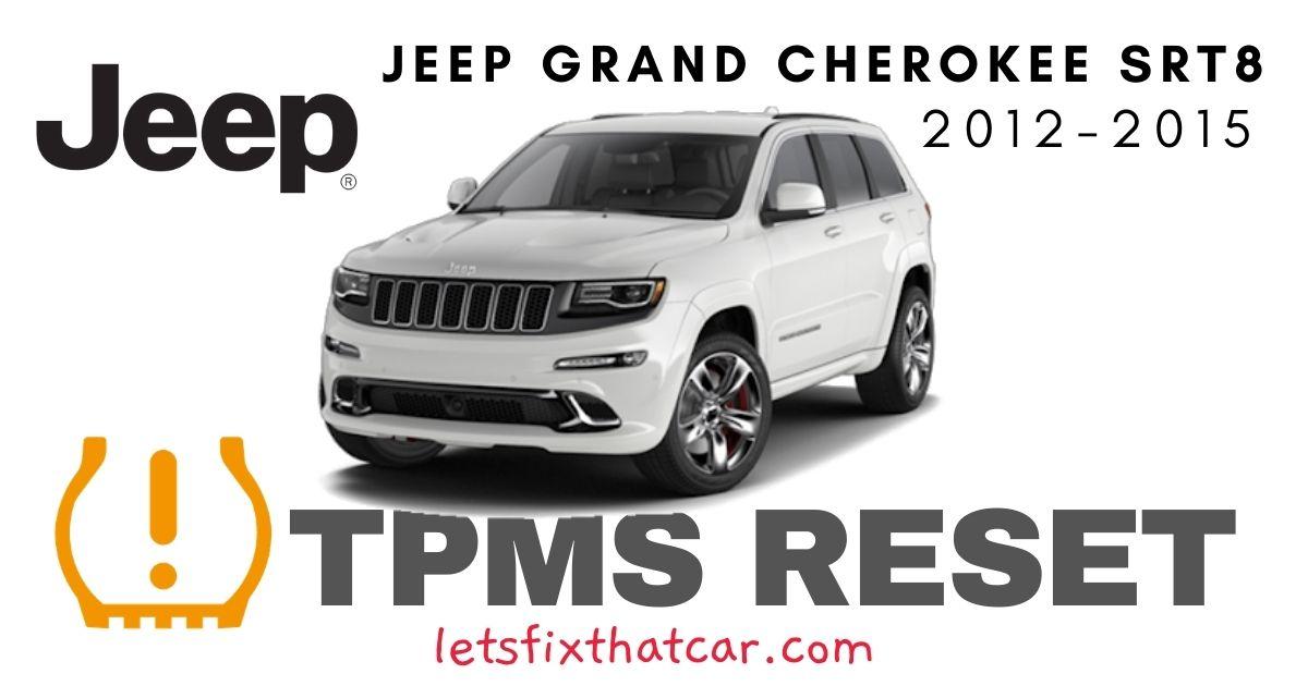 TPMS Reset-Jeep Grand Cherokee SRT8 2012-2015 Tire Pressure Sensor