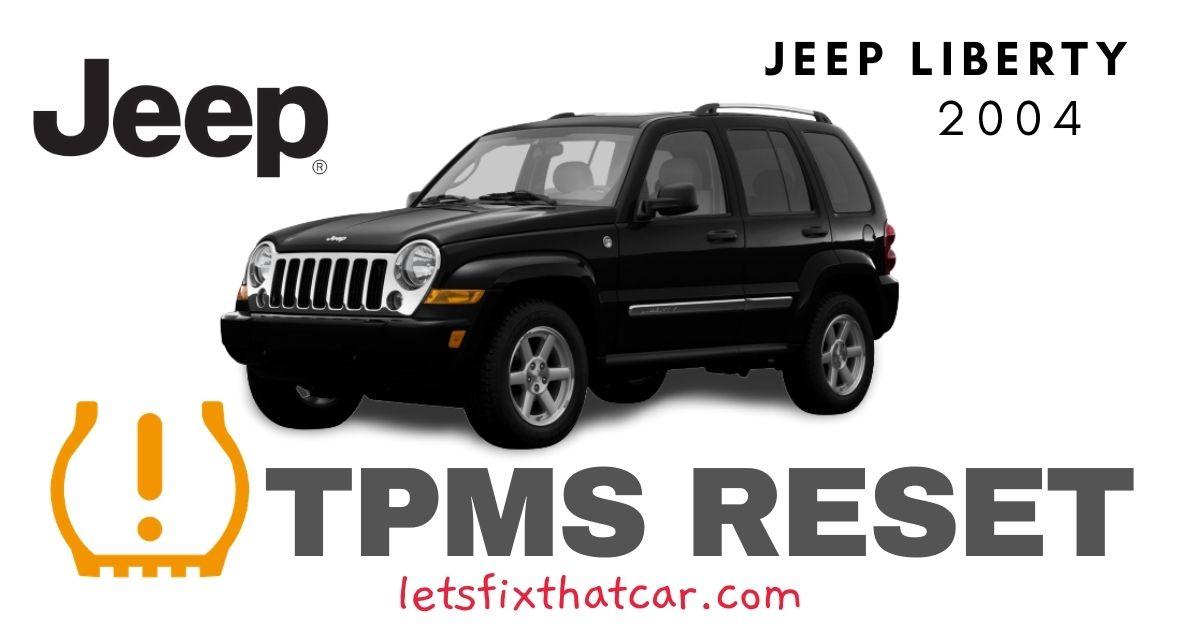 TPMS Reset-Jeep Liberty 2004 Tire Pressure Sensor