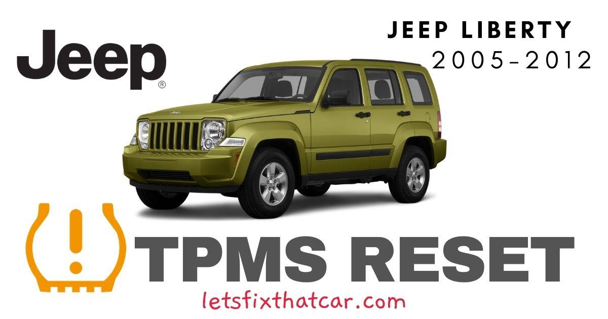 TPMS Reset-Jeep Liberty 2005-2012 Tire Pressure Sensor