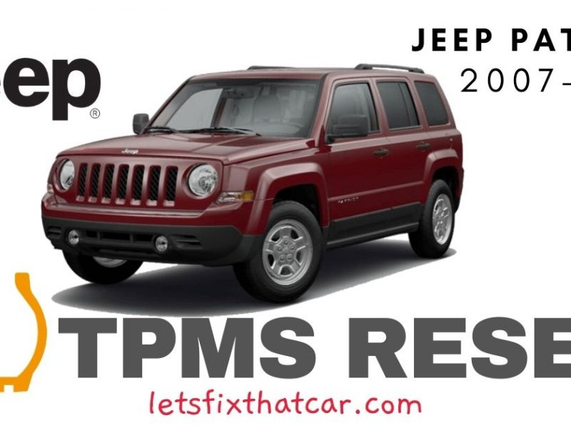TPMS Reset-Jeep Patriot 2007-2017 Tire Pressure Sensor
