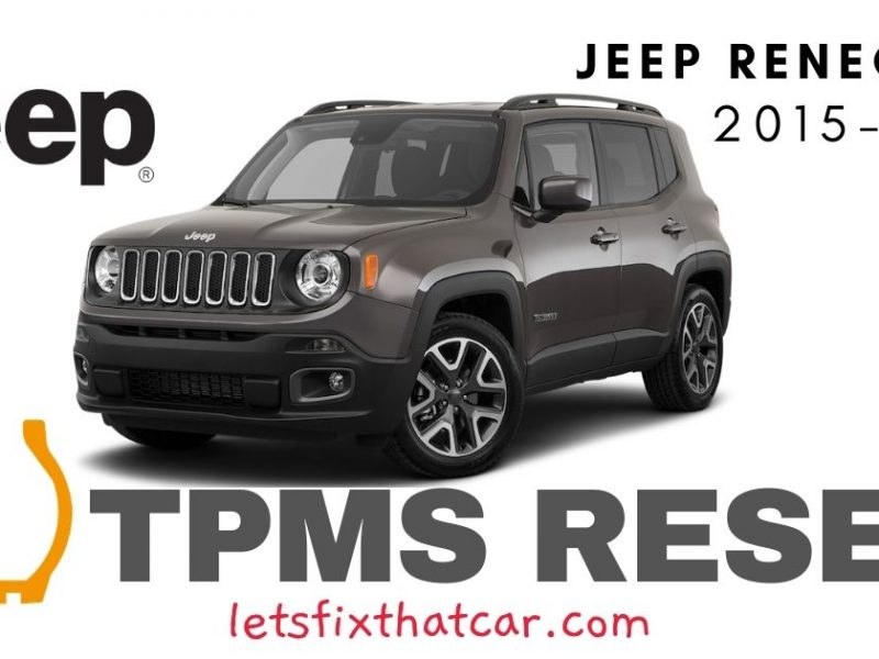 TPMS Reset- Jeep Renegade 2015-2019 Tire Pressure Sensor