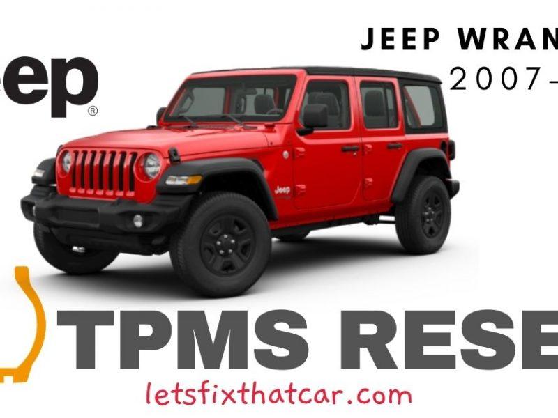 TPMS Reset-Jeep Wrangler 2007-2019 Tire Pressure Sensor