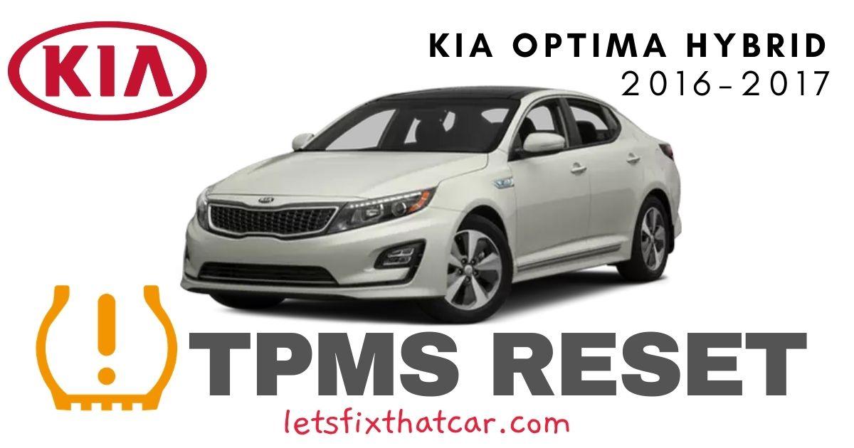 TPMS Reset-KIA Optima Hybrid 2016-2017 Tire Pressure Sensor