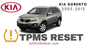 TPMS Reset-KIA Sorento 2005-2015 Tire Pressure Sensor