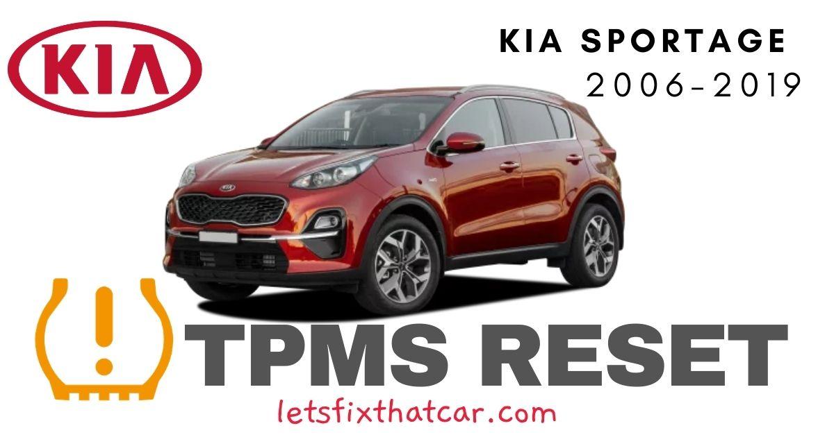TPMS Reset-KIA Sportage 2006-2019 Tire Pressure Sensor
