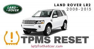TPMS Reset-Land Rover LR2 2008-2013 Tire Pressure Sensor