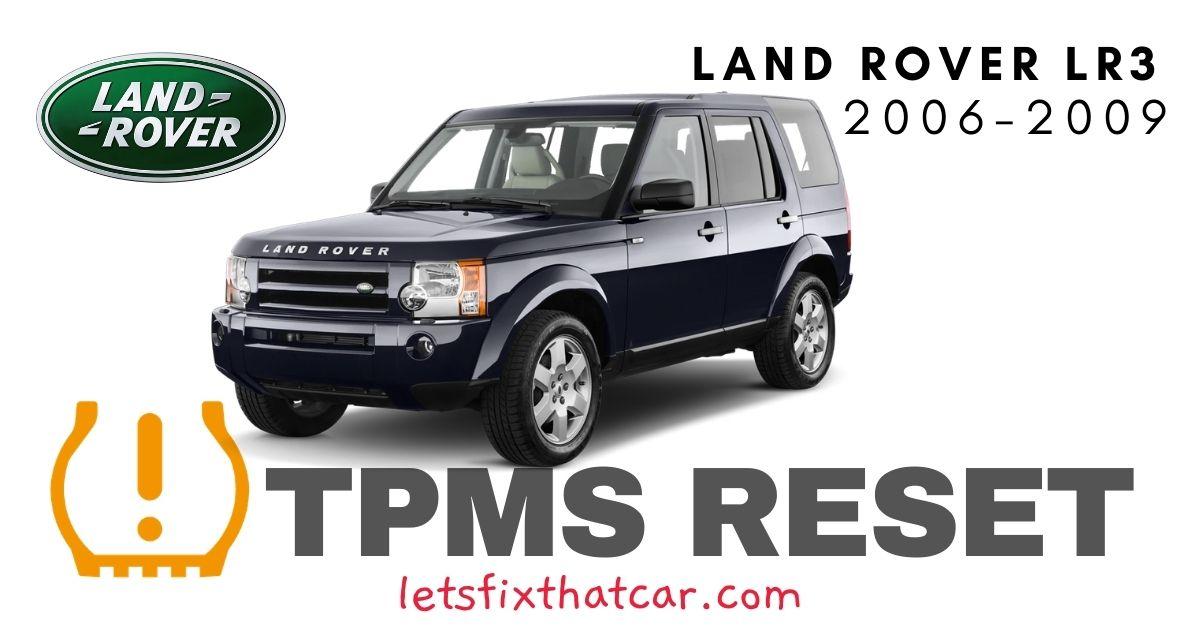TPMS Reset-Land Rover LR3 2006-2009 Tire Pressure Sensor