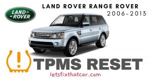 TPMS Reset-Land Rover Range Rover 2006-2013 Tire Pressure Sensor