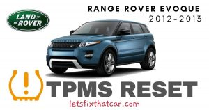 TPMS Reset-Land Rover Range Rover Evoque 2012-2013 Tire Pressure Sensor
