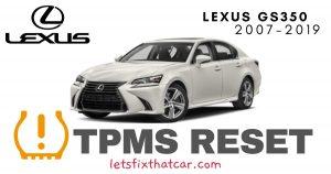 TPMS Reset-Lexus GS350 2007-2019 Tire Pressure Sensor