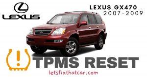 TPMS Reset-Lexus GX470 2007-2009 Tire Pressure Sensor
