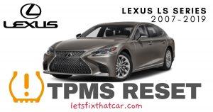 TPMS Reset-Lexus LS Series 2007-2019 Tire Pressure Sensor