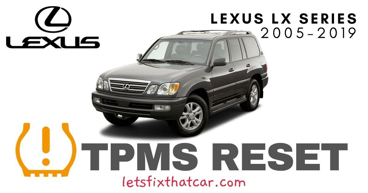 TPMS Reset-Lexus LX Series 2005-2019 Tire Pressure Sensor