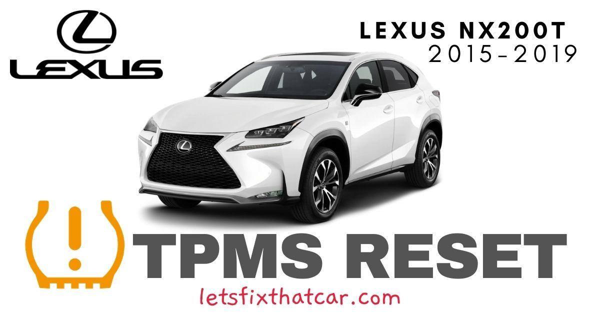 TPMS Reset-Lexus NX200t 2015-2019 Tire Pressure Sensor