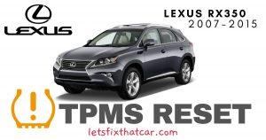 TPMS Reset-Lexus RX350 2007-2015 Tire Pressure Sensor