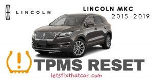 TPMS Reset-Lincoln MKC 2015-2019 Tire Pressure Sensor