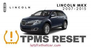 TPMS Reset- Lincoln MKX 2007-2015 Tire Pressure Sensor