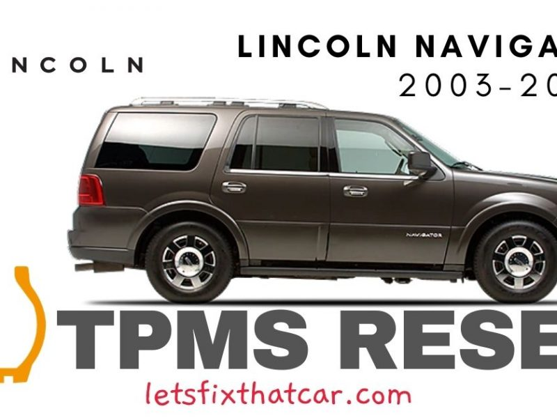 TPMS Reset-Lincoln Navigator 2003-2006 Tire Pressure Sensor