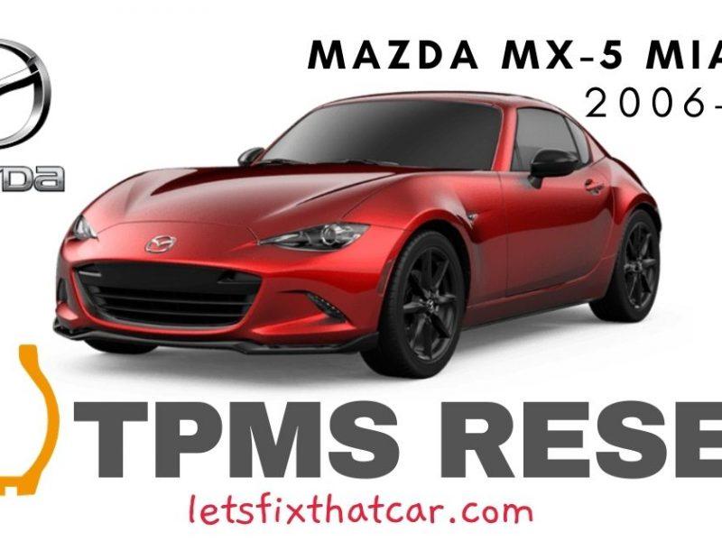 TPMS Reset-Mazda MX-5 Miata 2006-2019 Tire Pressure Sensor
