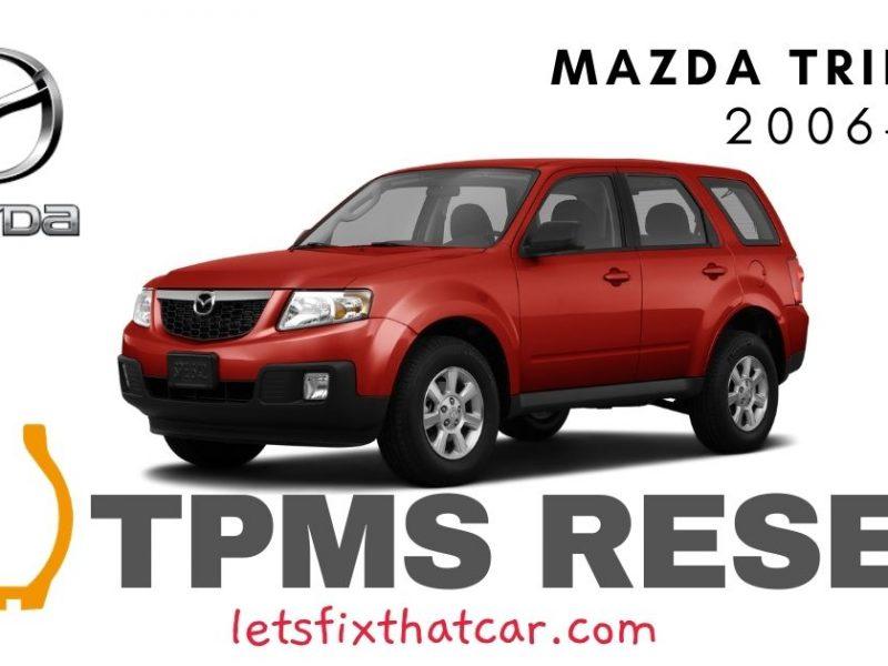 TPMS Reset-Mazda Tribute 2006-2011 Tire Pressure Sensor