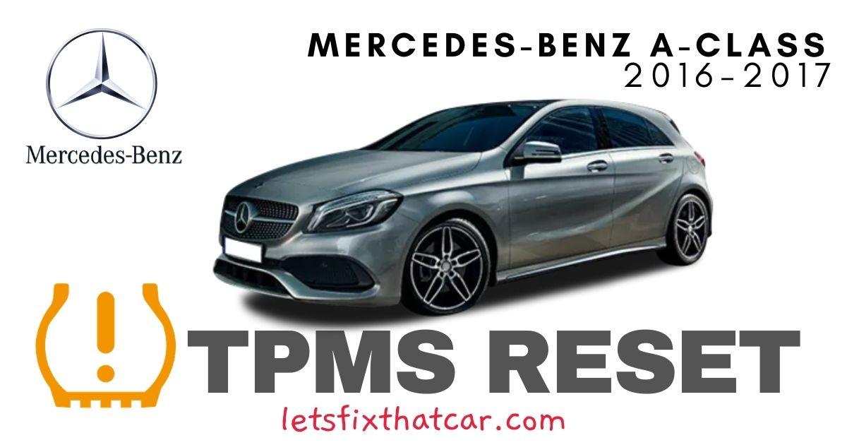 TPMS Reset-Mercedes A Class 2016-2017 Tire Pressure Sensor