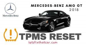 TPMS Reset-Mercedes AMG GT 2018 Tire Pressure Sensor