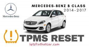 TPMS Reset-Mercedes-Benz B Class 2014-2017 Tire Pressure Sensor