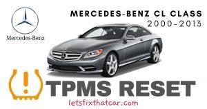 TPMS Reset-Mercedes-Benz CL Class 2000-2013 Tire Pressure Sensor