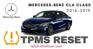 TPMS Reset-Mercedes-Benz CLA Class 2014-2019 Tire Pressure Sensor