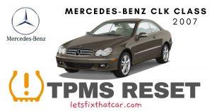 TPMS Reset-Mercedes-Benz CLK Class 2007 Tire Pressure Sensor