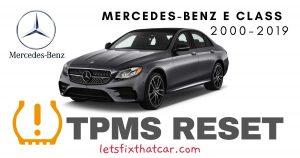 TPMS Reset-Mercedes-Benz E Class 2000-2019 Tire Pressure Sensor