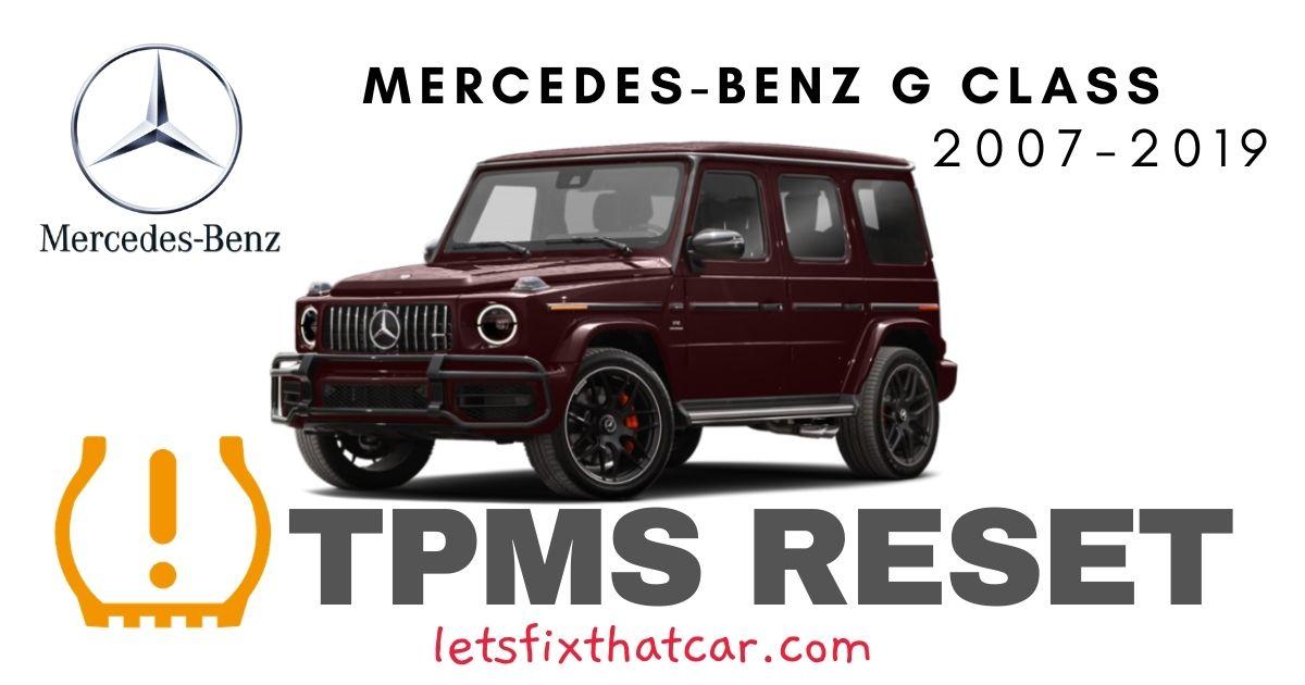 TPMS Reset-Mercedes-Benz G Class 2007-2019 Tire Pressure Sensor