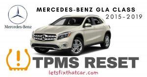 TPMS Reset-Mercedes-Benz GLA Class 2015-2019 Tire Pressure Sensor