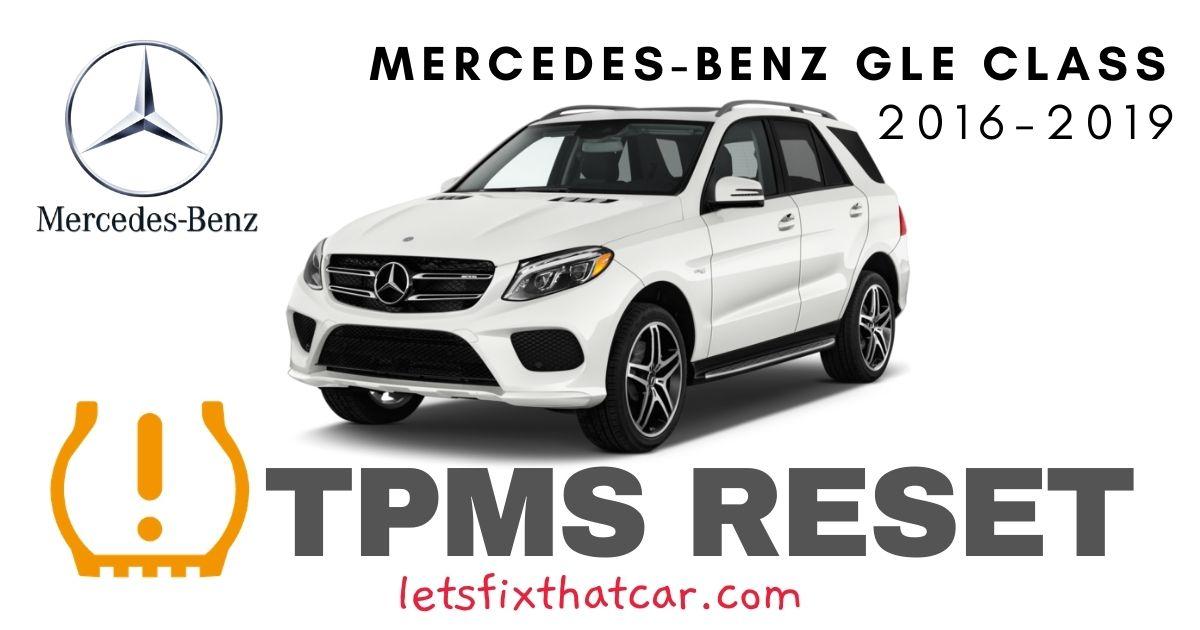 TPMS Reset-Mercedes-Benz GLE Class 2016-2019 Tire Pressure Sensor