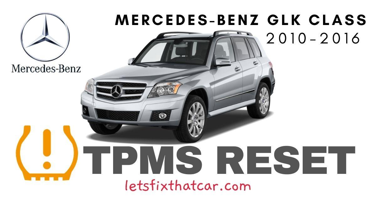 TPMS Reset-Mercedes-Benz GLK Class 2010-2016 Tire Pressure Sensor