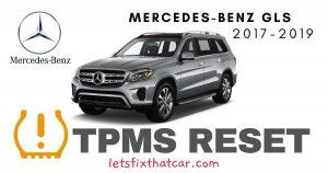 TPMS Reset-Mercedes-Benz GLS 2017-2019 Tire Pressure Sensor