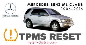 TPMS Reset-Mercedes-Benz ML Class 2006-2016 Tire Pressure Sensor