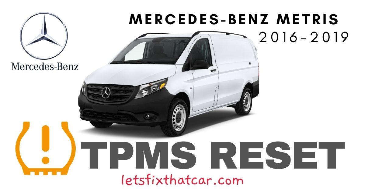 TPMS Reset-Mercedes-Benz Metris 2016-2019 Tire Pressure Sensor