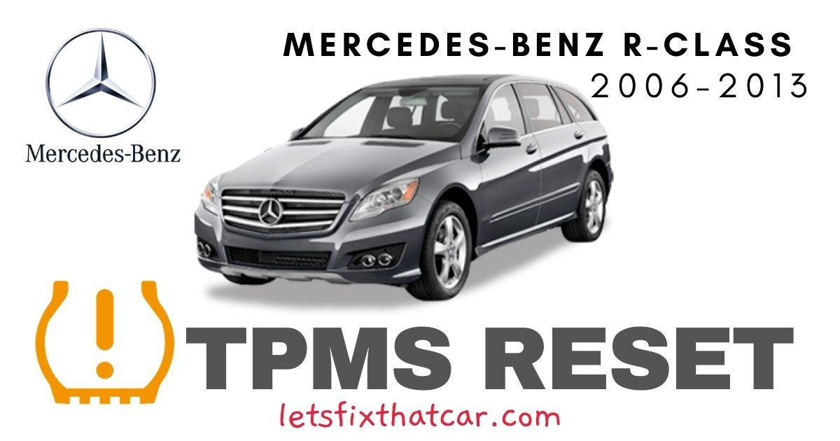 TPMS Reset-Mercedes-Benz R Class 2006-2013 Tire Pressure Sensor
