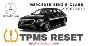 TPMS Reset-Mercedes-Benz S Class 2000-2019 Tire Pressure Sensor