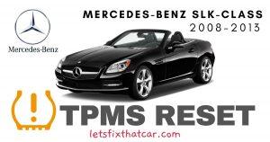 TPMS Reset-Mercedes-Benz SLK Class 2008-2013 Tire Pressure Sensor