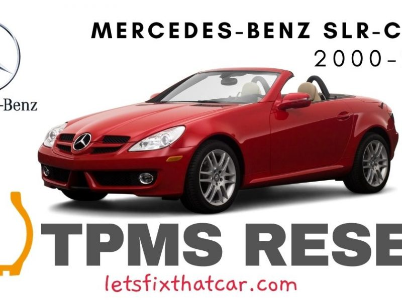 TPMS Reset- Mercedes-Benz SLR Class 2000-2009 Tire Pressure Sensor