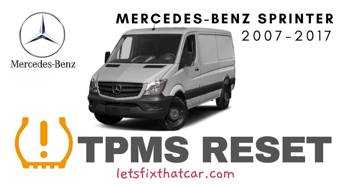 TPMS Reset-Mercedes-Benz Sprinter 2007-2017 Tire Pressure Sensor