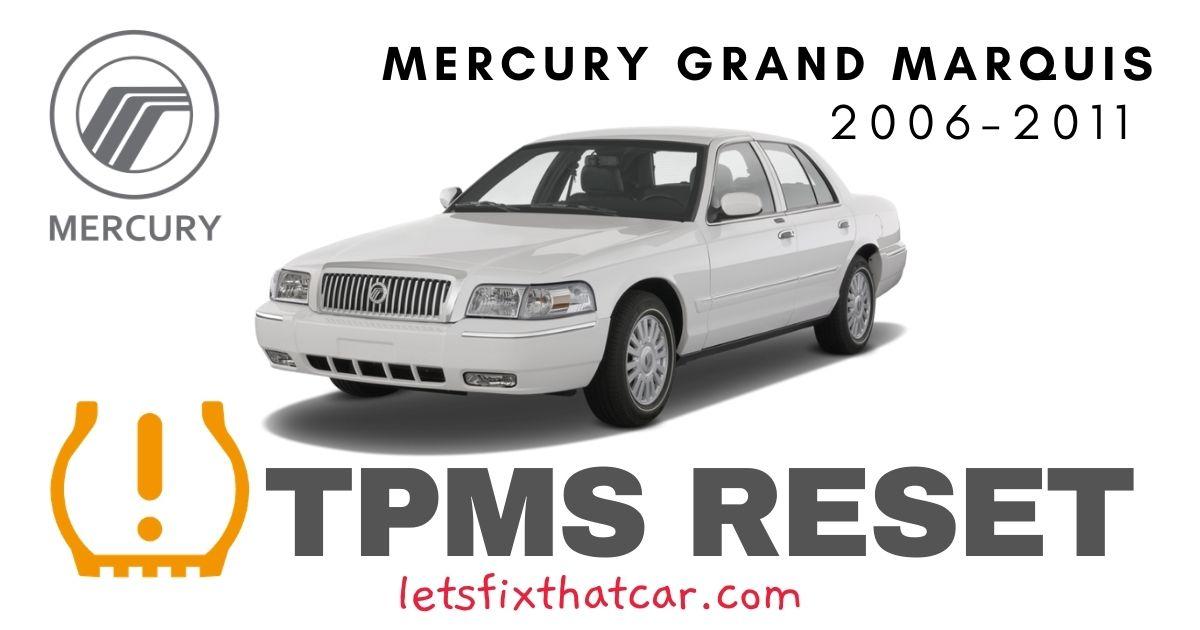 TPMS Reset-Mercury Grand Marquis 2006-2011 Tire Pressure Sensor