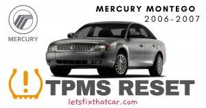 TPMS Reset-Mercury Montego 2006-2007 Tire Pressure Sensor