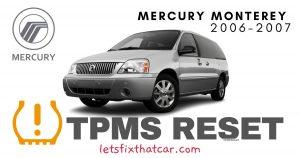 TPMS Reset-Mercury Monterey 2006-2007 Tire Pressure Sensor