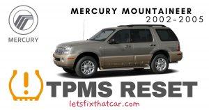 TPMS Reset-Mercury Mountaineer 2002-2005 Tire Pressure Sensor