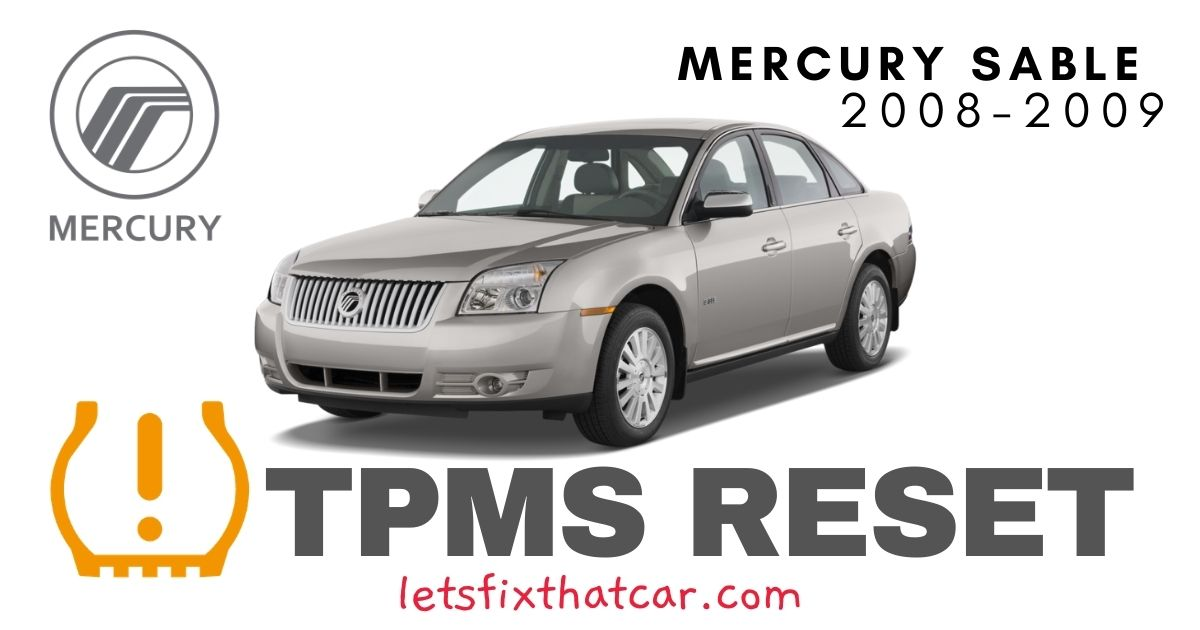 TPMS Reset-Mercury Sable 2008-2009 Tire Pressure Sensor