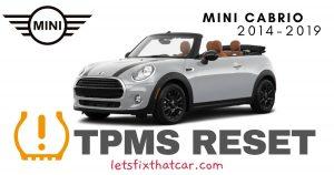 TPMS Reset-Mini Cabrio 2014-2019 Tire Pressure Sensor